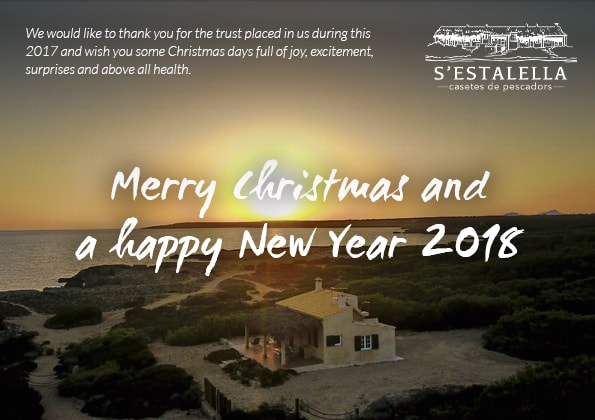 Merry Christmas and Happy New Year 2018 Fishermen's Houses